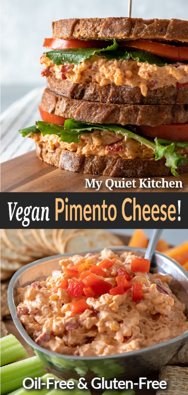 Vegan Pimento Cheese pin for Pinterest