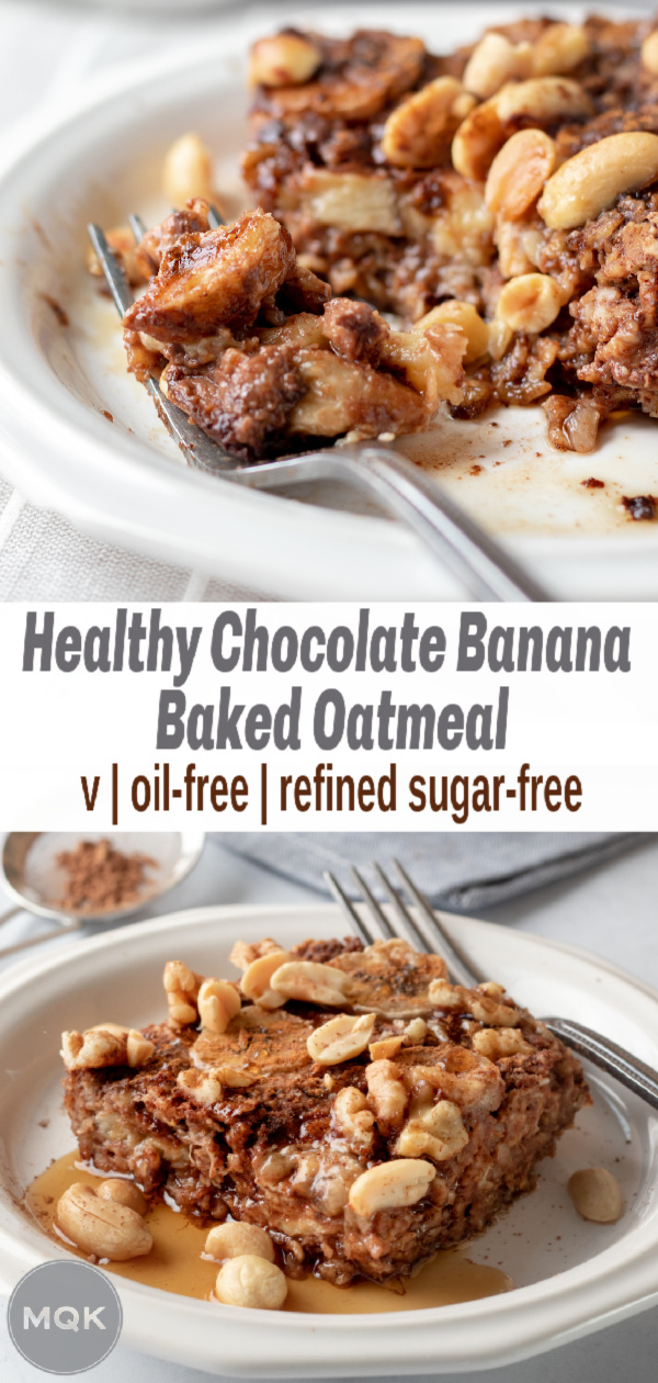 Baked Oatmeal pin for Pinterest