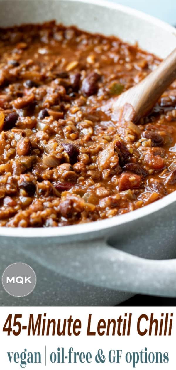 lentil chili pin for Pinterest