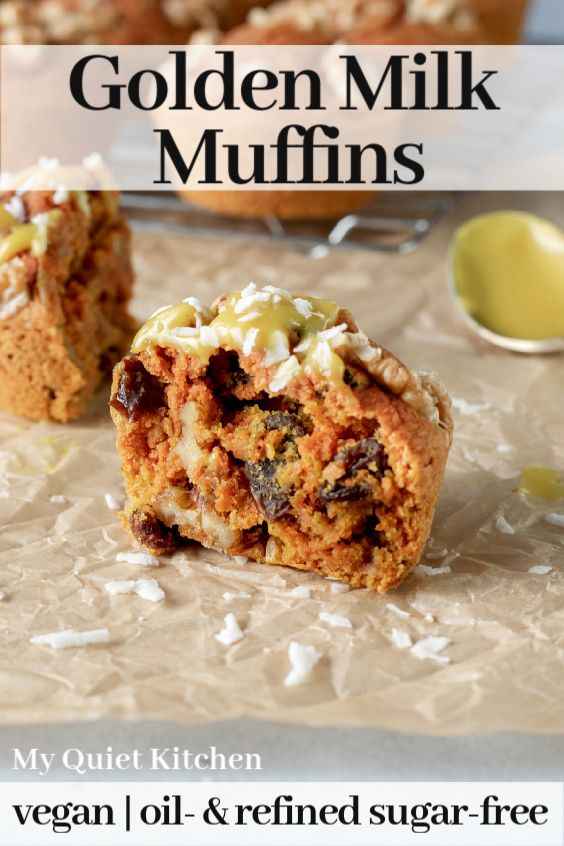 Golden Milk Muffins pin for Pinterest