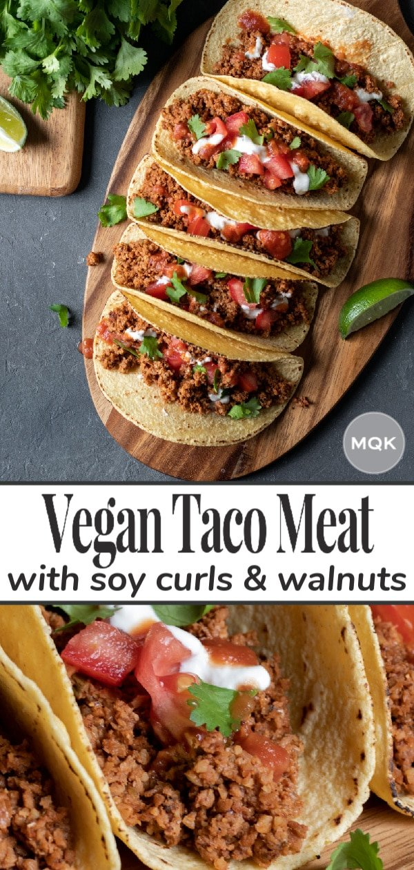 Soy Curl Taco Meat pin for Pinterest