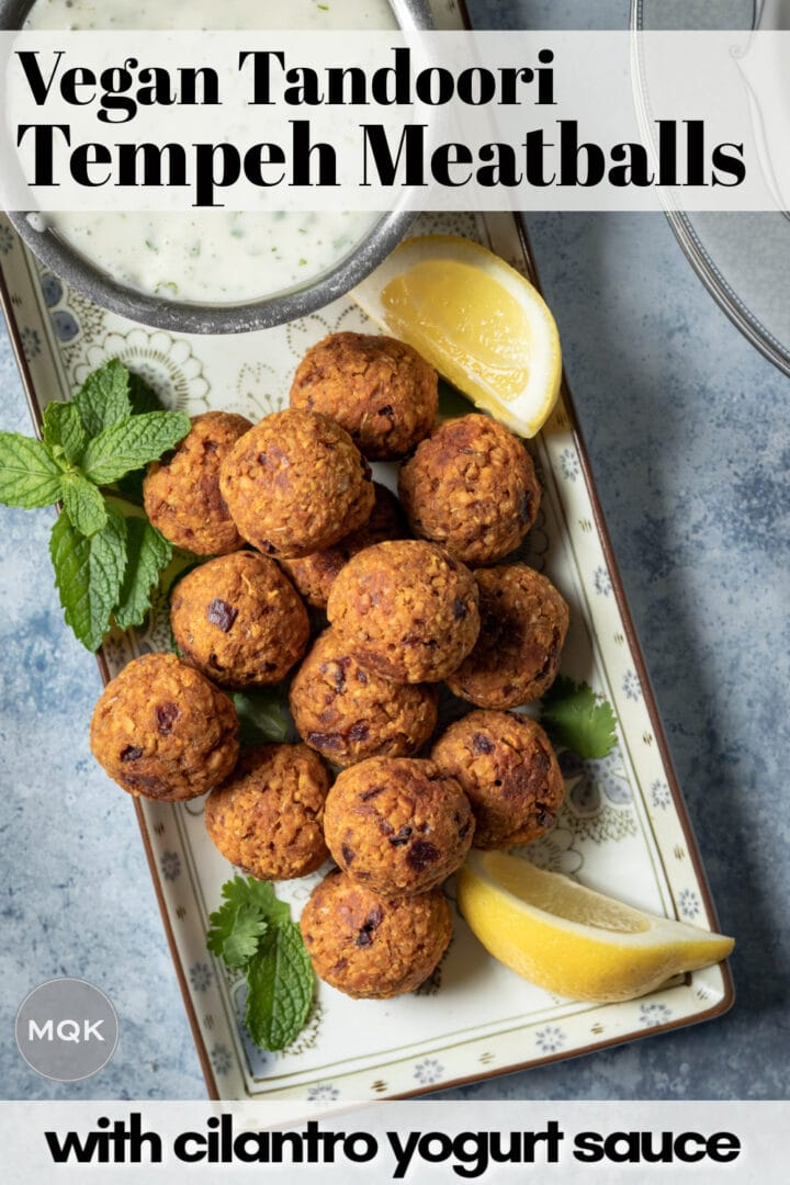 pin to save tempeh meatballs on Pinterest