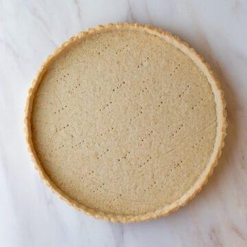 baked unfilled tart crust