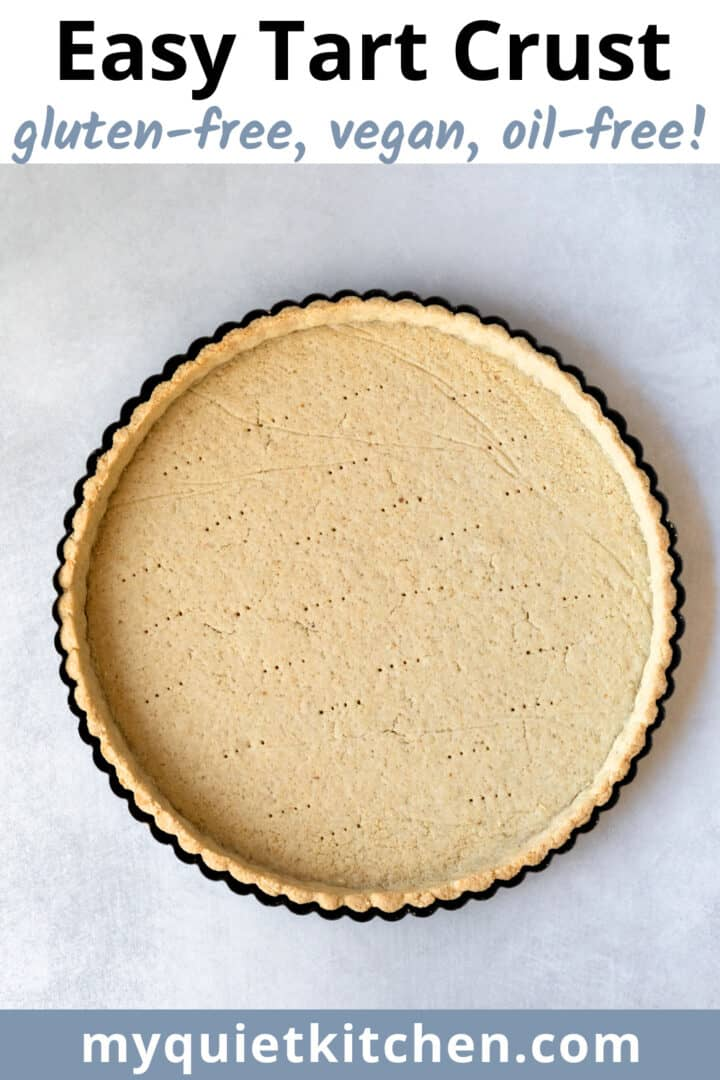 image of baked crust to save on Pinterest.
