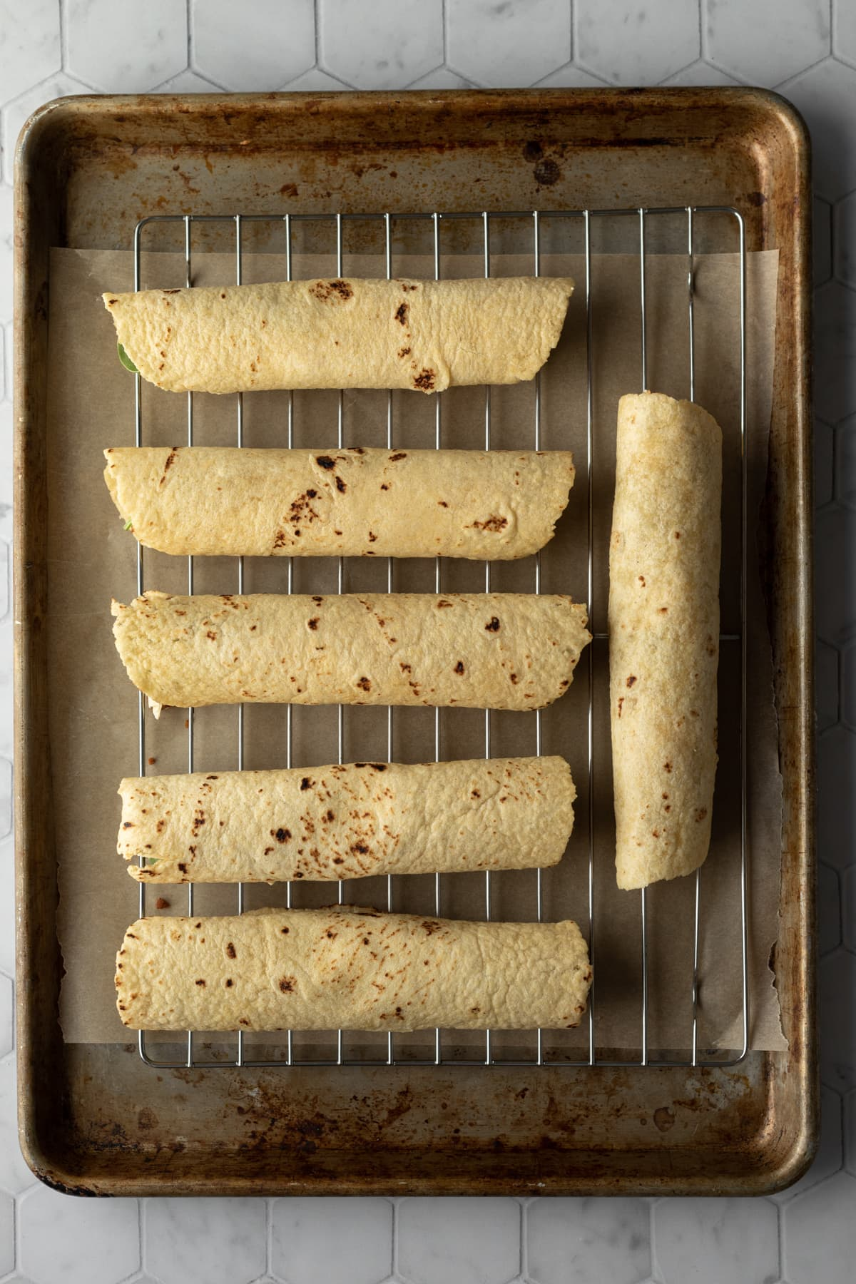 rolled up and ready to be baked