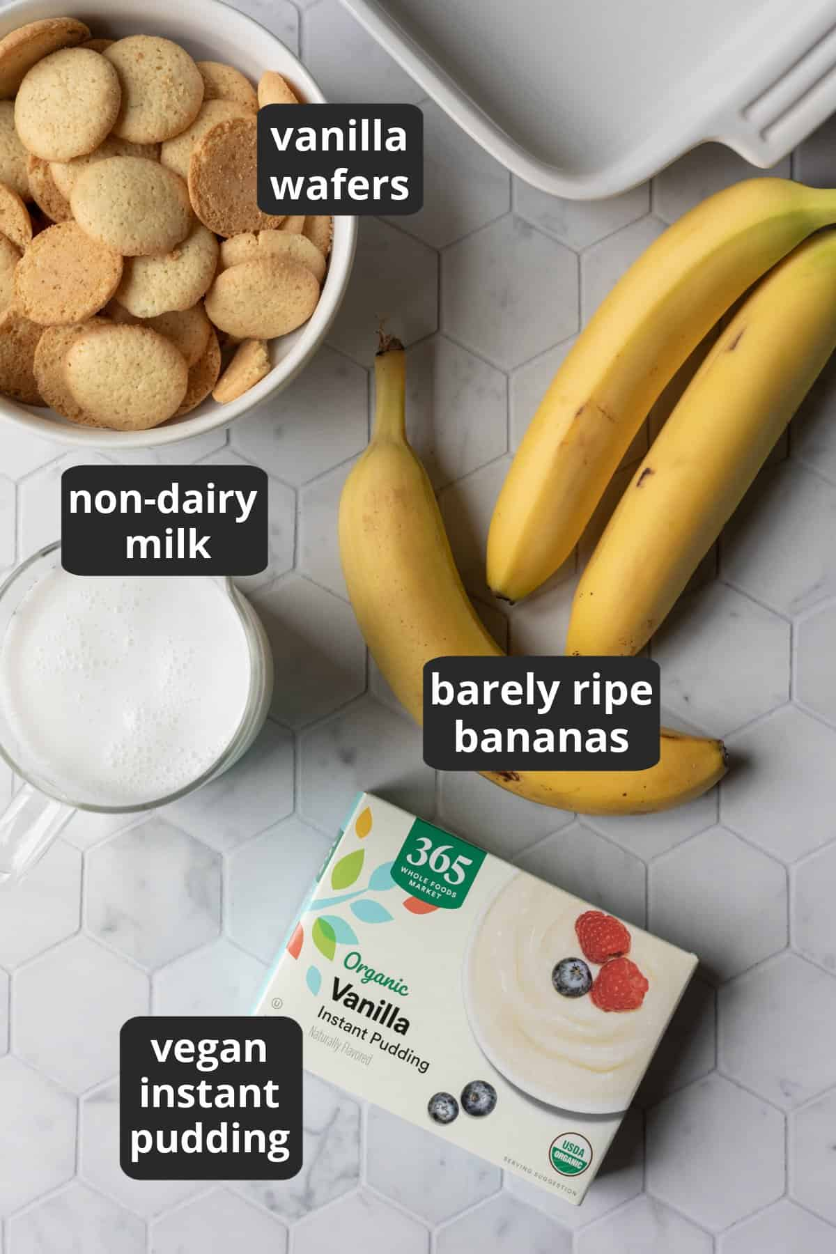 labeled photo of 4 ingredients.