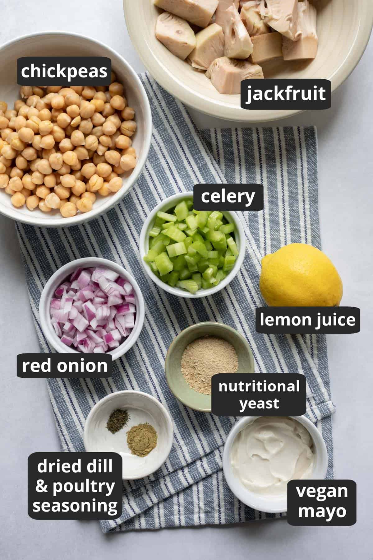 a labeled photo of the ingredients needed for the recipe.